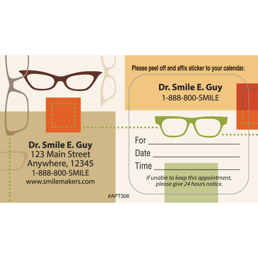 Eye Care Appointment Cards