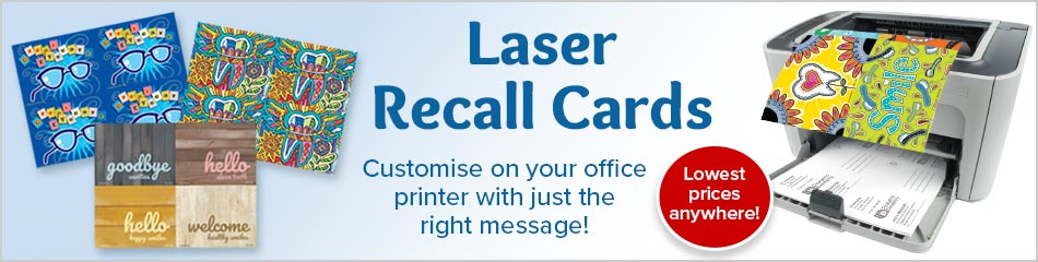 4-Up Laser Recall Cards