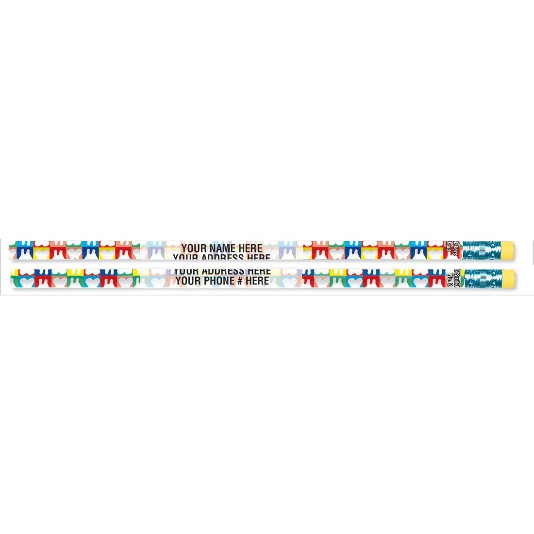 Custom Rainbow Teeth Pencils [image]