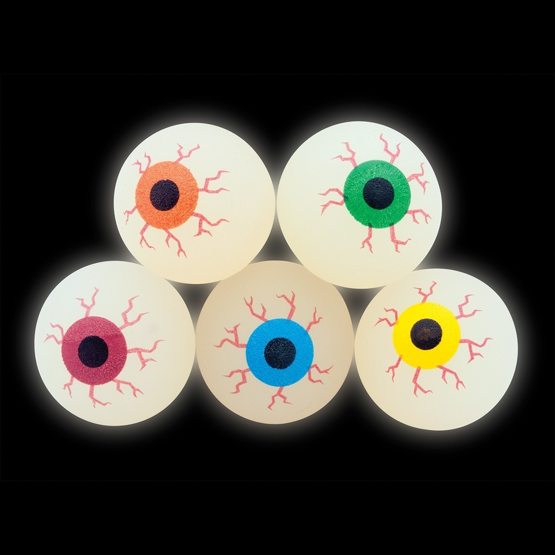 32mm Glow in the Dark Eyeball Bouncing Balls [image]