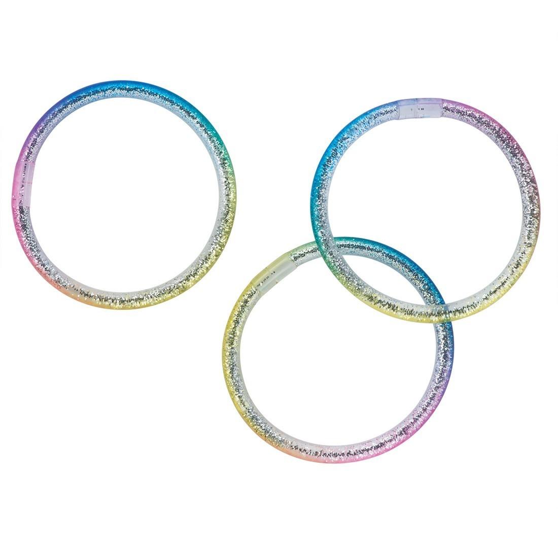 Rainbow Liquid Glitter Bracelets [image]
