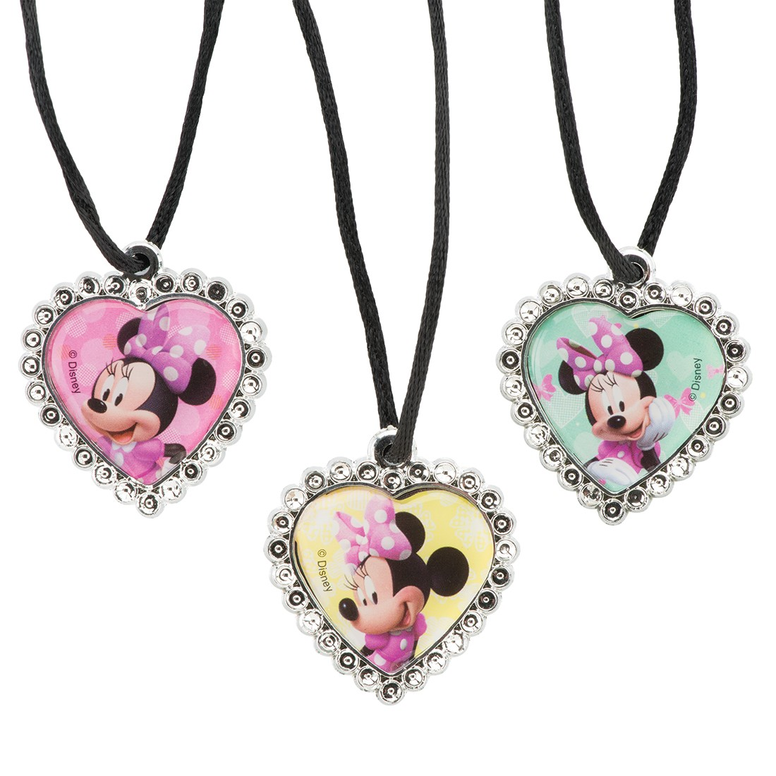 Minnie Mouse Jewel Heart Necklaces [image]