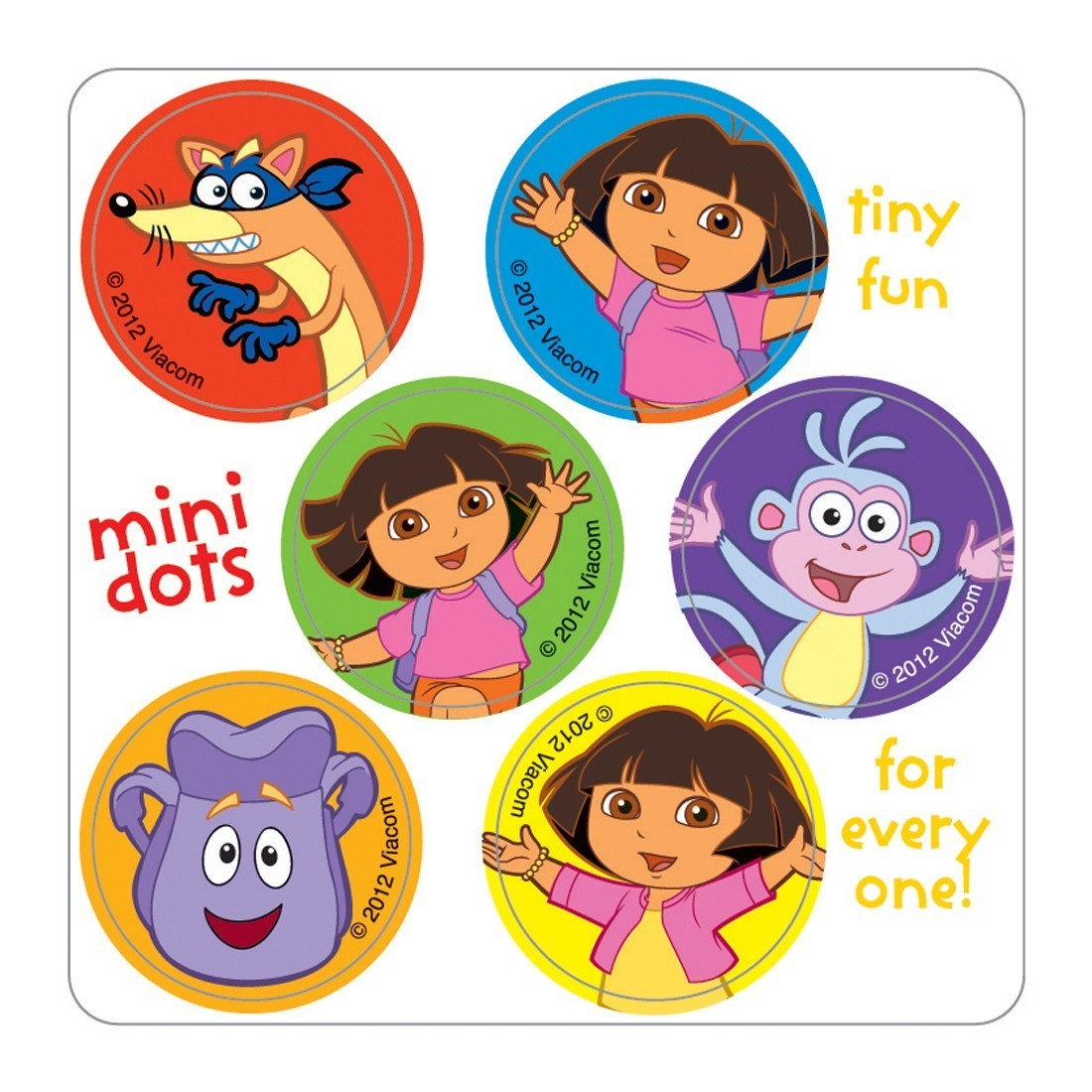 dora mini dot stickers character mini dots from smilemakers
