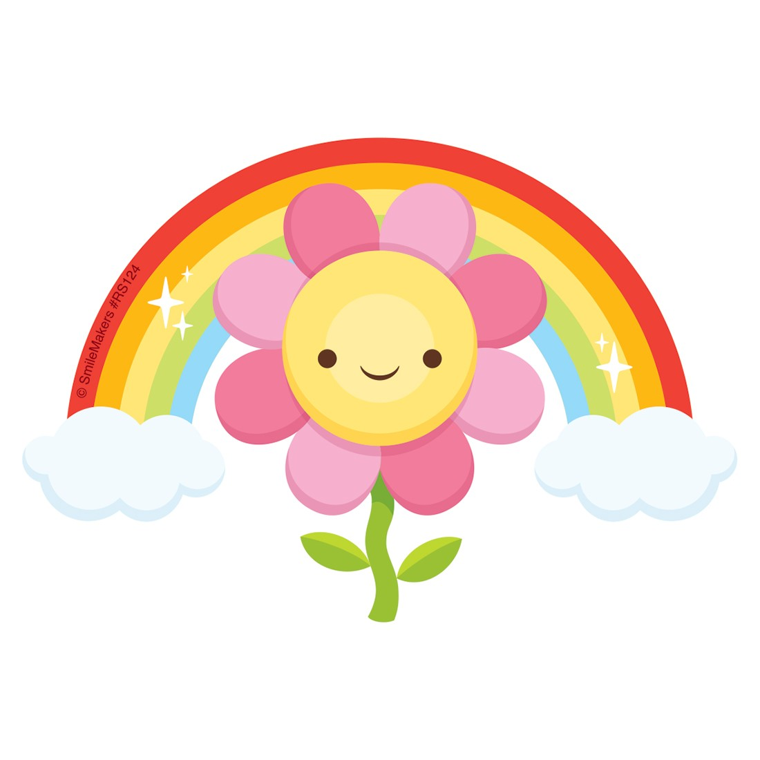 Flower Rainbow Re-Stickable Stickers [image]