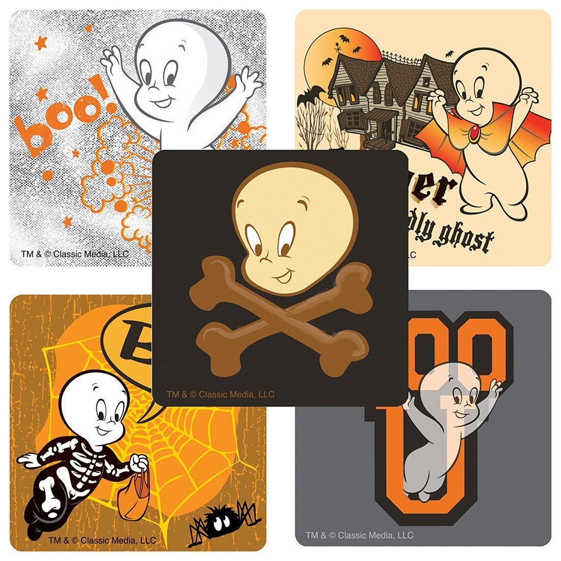Casper the Friendly Ghost Stickers - from SmileMakers