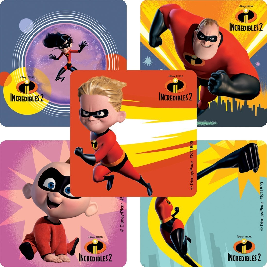 Incredibles 2 Movie Stickers [image]