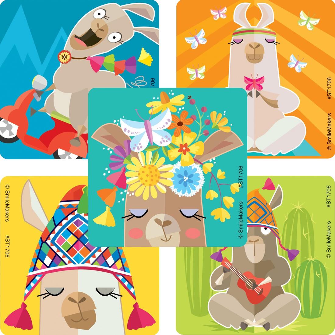 Lively Llama Stickers [image]