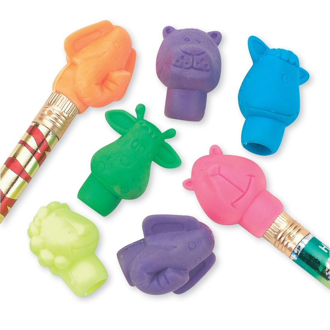 Animal Pencil Top Erasers [image]