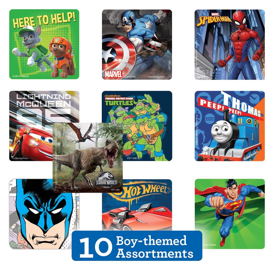 Boy Sticker Sampler [image]