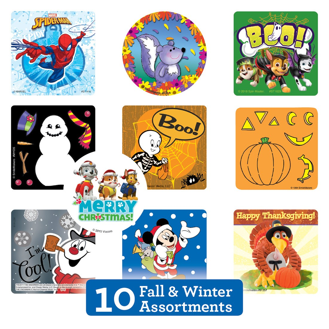 Fall & Winter Seasonal Sticker Sampler [image]
