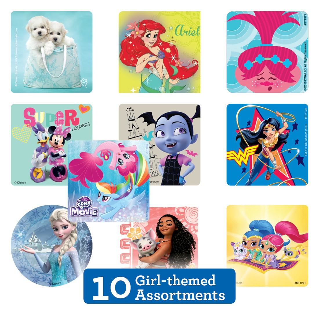 Girl Sticker Sampler [image]