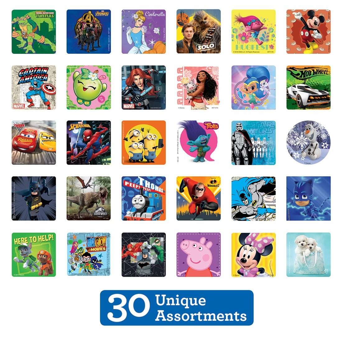 SmileMakers Licenced Sticker Sampler [image]