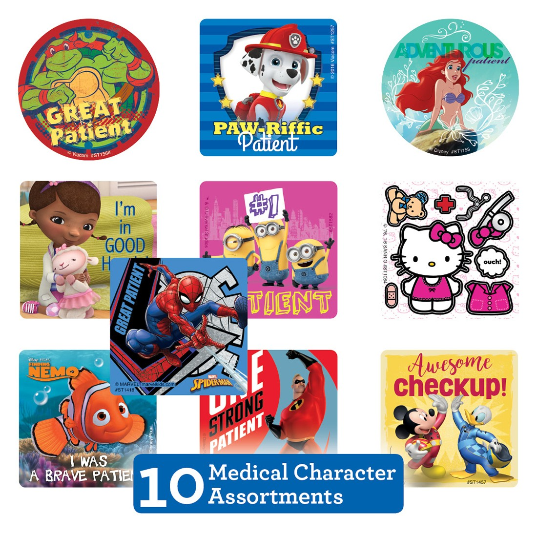 Medical Character Sticker Sampler [image]