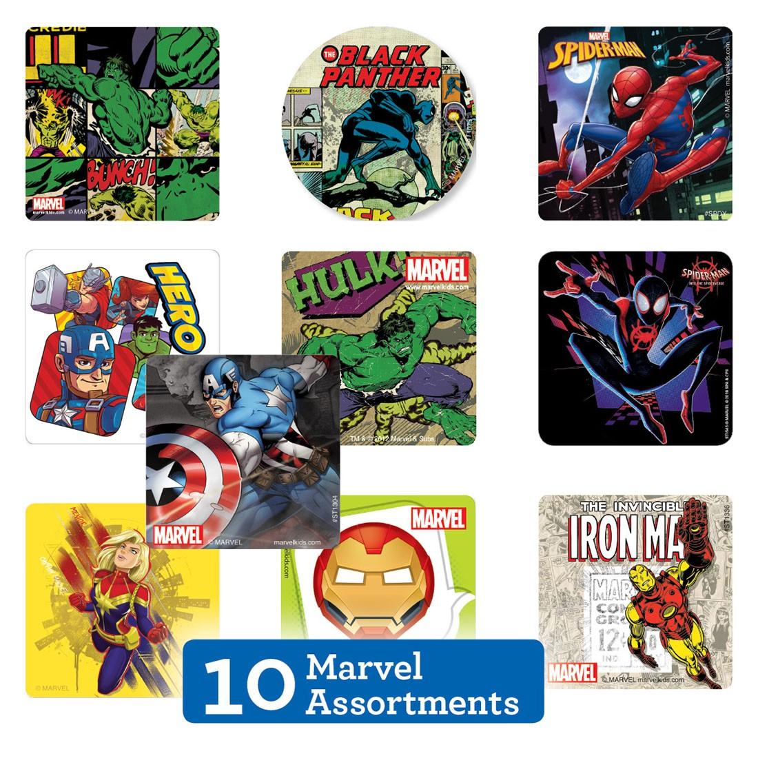 Marvel Sticker Sampler [image]