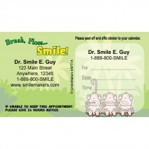 Custom BrushFlossSmile Monkey Appointment Cards