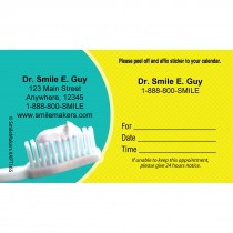 Custom Toothbrush & Paste Appointment Cards