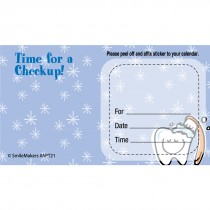 Custom Smiling Tooth Appointment Cards