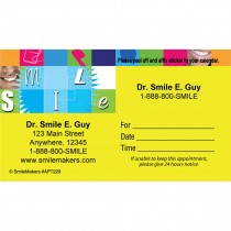 Custom Smile Blocks Appointment Cards