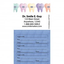 Custom Colour Braces Three Sticker Appointment Card