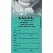 Custom Gentle Dental Three Sticker Appointment Cards