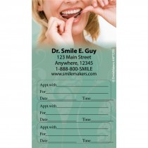 Custom Flossing Three Sticker Appointment Cards