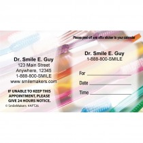 Custom Toothbrushes Appointment Cards