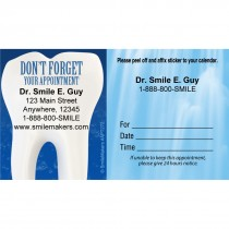 Custom Don't Forget Blue Water Sticker Appointment Cards