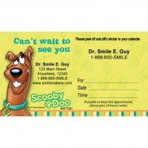 Custom Scooby Doo Can't Wait Sticker Appointment Cards