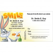 Custom Bugs Bunny Smile Sticker Appointment Cards