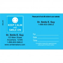 Custom Keep Calm and Smile Appointment Card