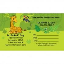 Custom Jungle Friends Sticker Appointment Cards