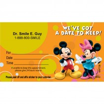 Custom Mickey Mouse & Minnie Mouse Date Appointment Cards