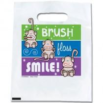 Brush, Floss, Smile Monkeys Colour Lines Bags