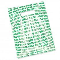 Brush Floss Smile Scatter Print Bags
