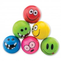 29mm Funny Smiley Face Neon Bouncing Balls
