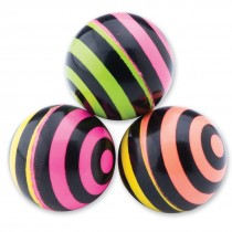 28mm Neon Stripe Bouncing Balls