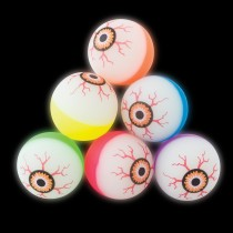 29mm Two-Tone Glow-in-the-Dark Eyeball Bouncing Balls