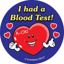 Simple Blood Test Stickers