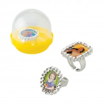 "Disney Princess Jewel Rings in 2"" Capsules"