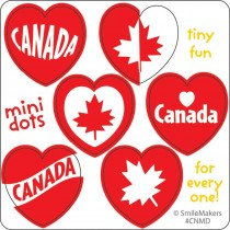 Canadian Mini Heart Stickers