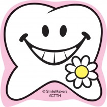 Happy Tooth Shaped Stickers