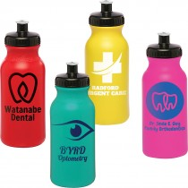Custom 20 oz Water Bottle with Push Cap
