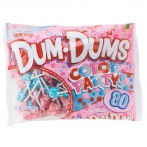 Pink, Red & Blue DumDums Lollipops