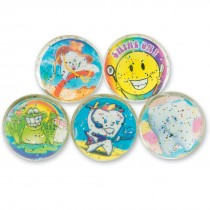 32mm Glitter Silly Smiles Dental Bouncing Balls