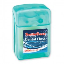 12 Yards SmileCare Waxed Mint Floss