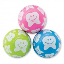 30mm Happy Tooth Scatter Print Bouncing Balls