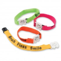 Brush, Floss, Smile Clip Bracelets