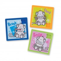 Brush, Floss, Smile Monkey Slide Puzzles