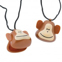Brush, Floss, Smile Monkeys Tooth Holder Necklaces
