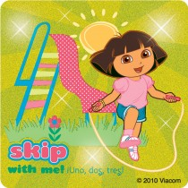 Dora the Explorer Glitter Stickers